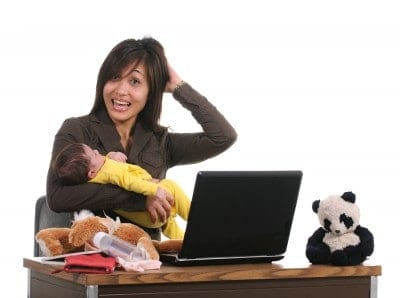 bigstockphoto_Asian_Business_Woman_And_Baby_5110436-400x298